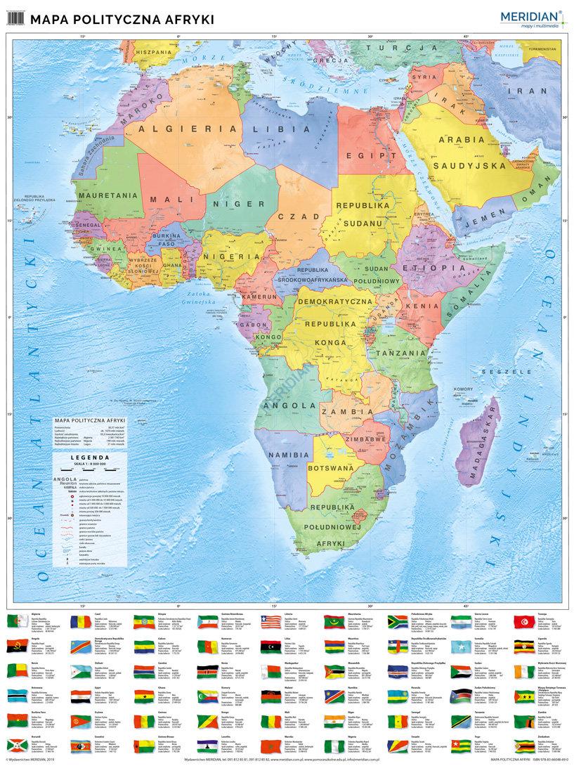 Afryka Scienna Mapa Polityczna 2019