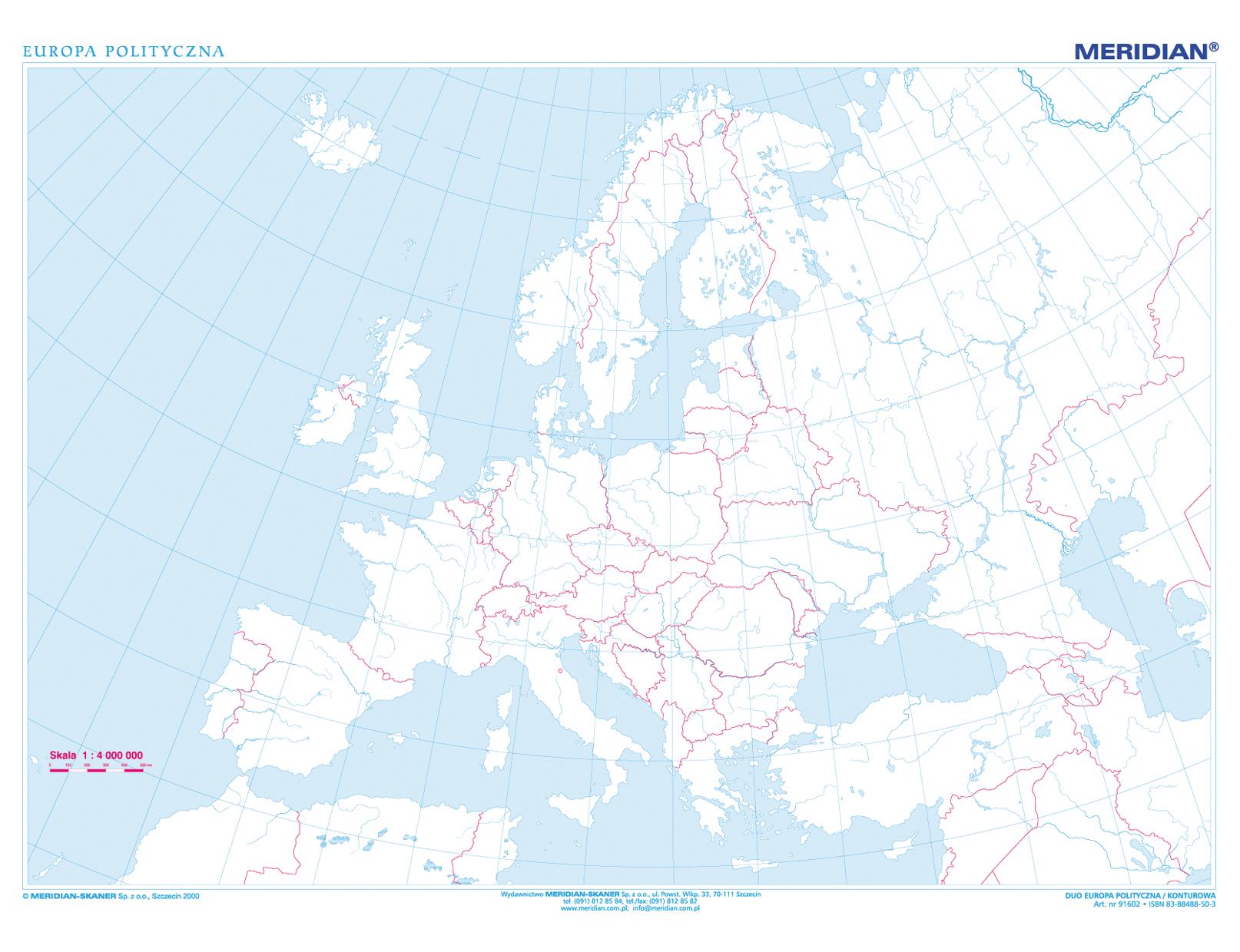 Mapa Konturowa Europy