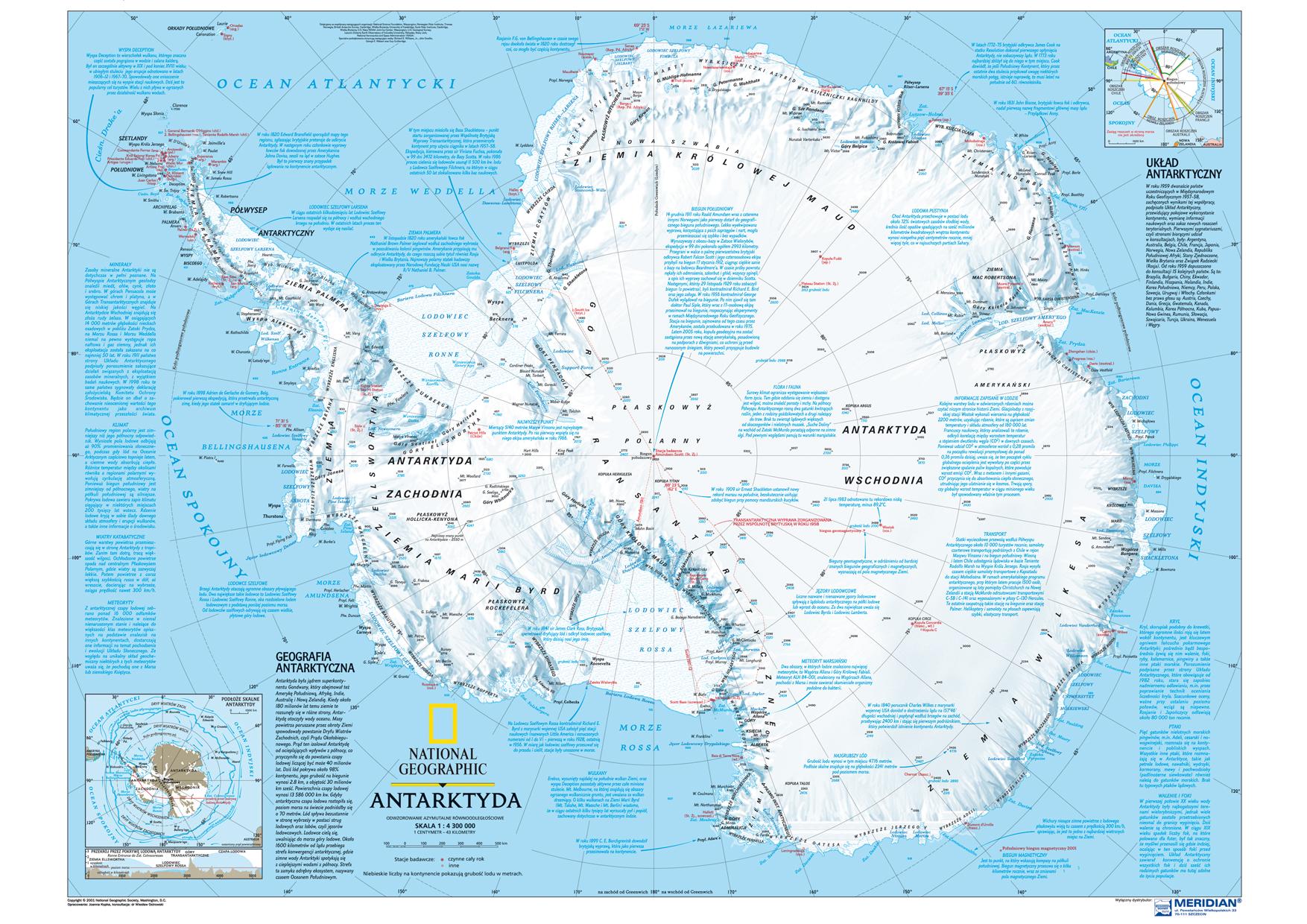 Antarktyda Mapa Fizyczna